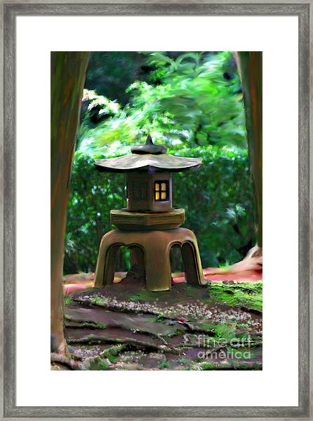 Light-on Pagoda Framed Print