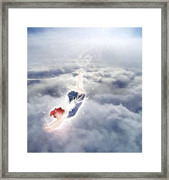 Light Play Angels Descent Framed Print
