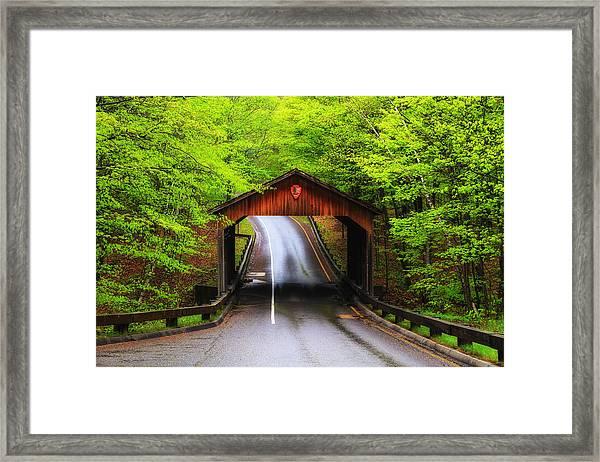 Light Rain On Pierce Stocking Drive 2 Framed Print