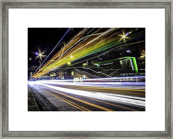 Light Trails 1 Framed Print