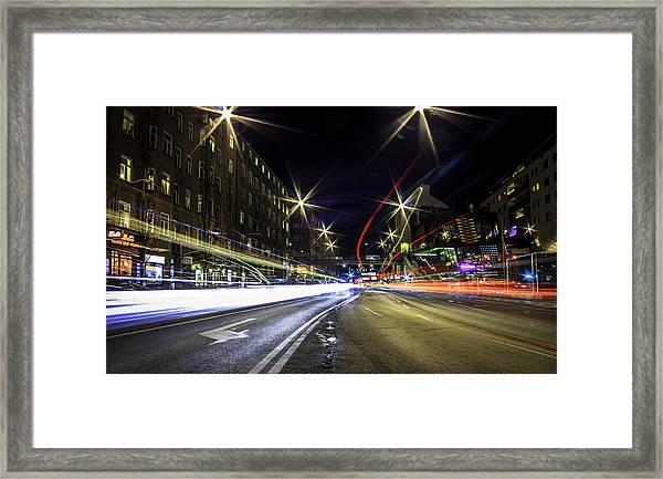 Light Trails 2 Framed Print