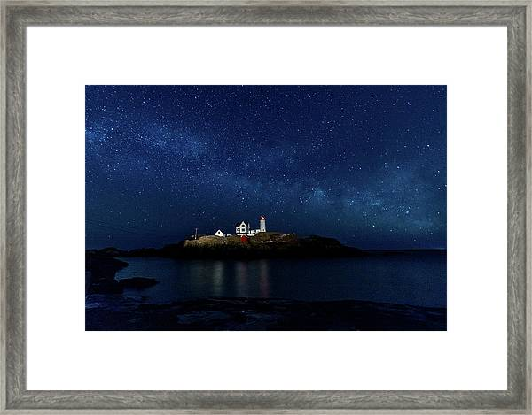Light Up Nubble Lighthouse Framed Print