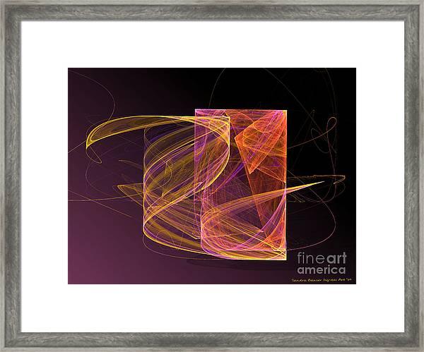 Framed Print featuring the digital art Lightbox by Sandra Bauser Digital Art
