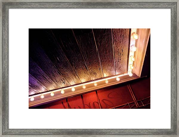 Lighted Corner In Red Black Annd Yellow In Winter Park Florida Framed Print