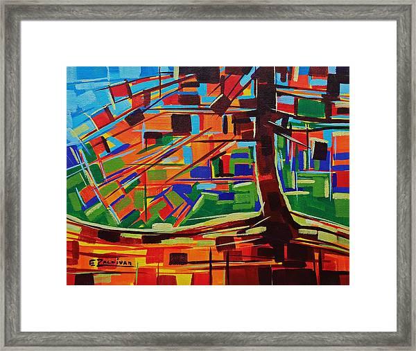 Lighted Tree Framed Print