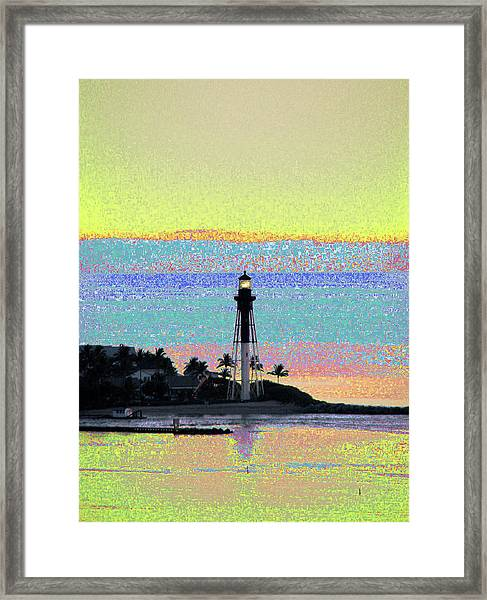 Luminous Florida Yellow At Hillsboro Lighthouse Framed Print