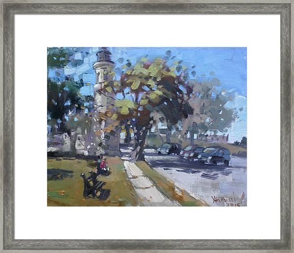 Lighthouse At Fort Niagara Framed Print