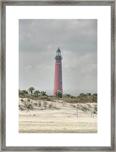 Lighthouse At Ponce Inlet Framed Print