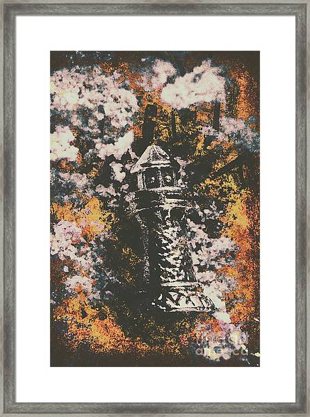 Lighthouse From Rust Harbour Framed Print