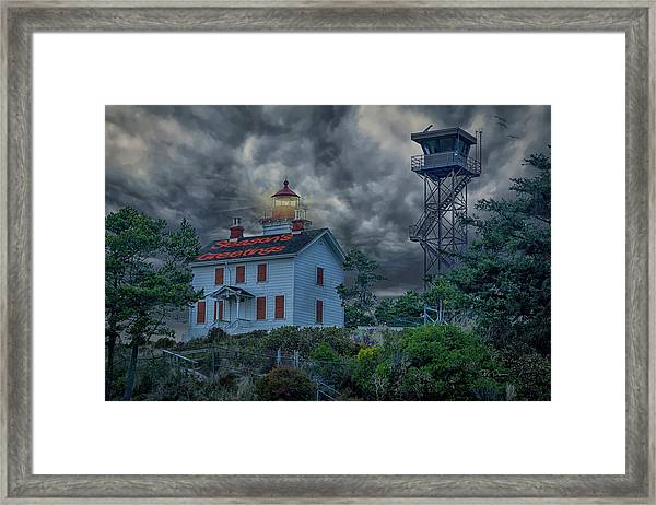 Lighthouse Greetings Framed Print