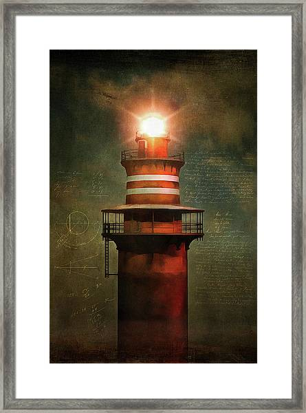 Framed Print featuring the painting Lighthouse by Jan Keteleer