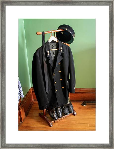 Lighthouse Keeper Uniform Framed Print
