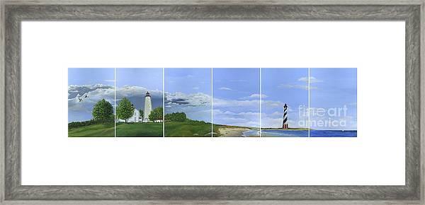 Lighthouse Panels Framed Print
