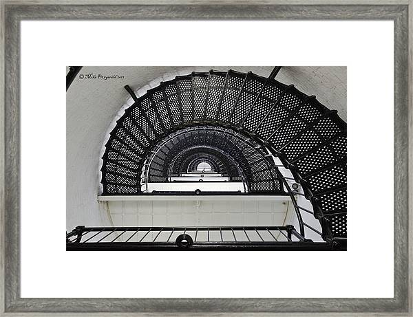 Lighthouse Spiral Framed Print