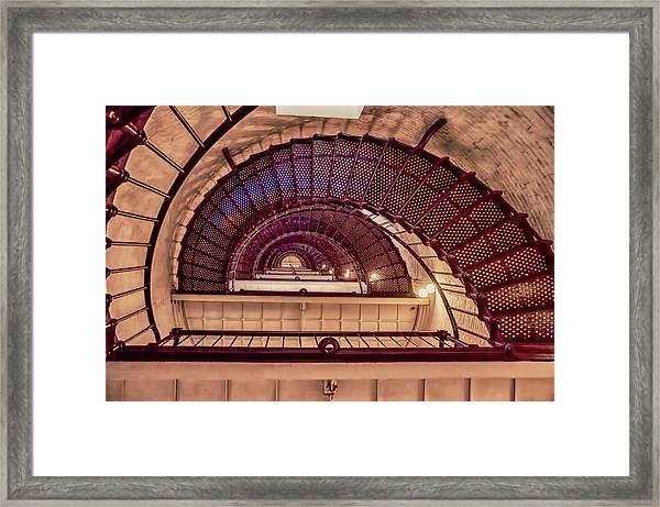 Lighthouse Stairwell Framed Print