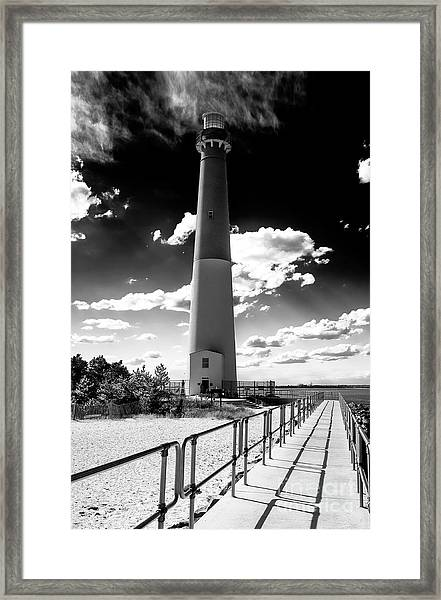 Lighthouse Walk Long Beach Island Framed Print by John Rizzuto