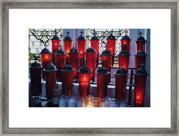 Lighting A Candle For You Framed Print