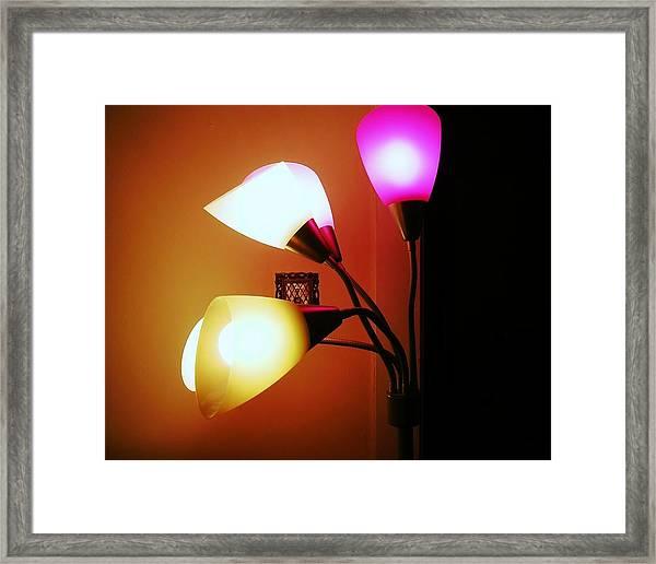 Lighting The Room Framed Print