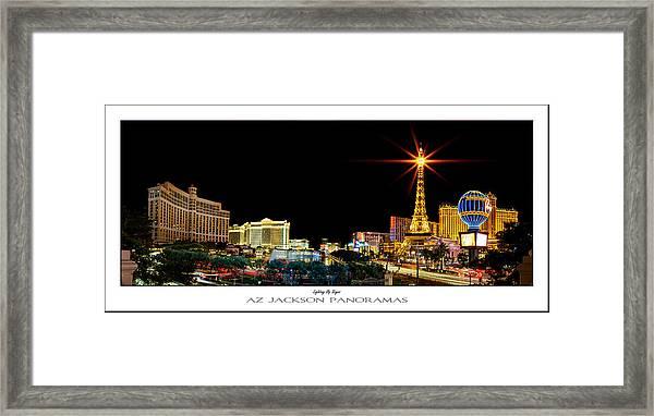 Lighting Up Vegas Poster Print Framed Print by Az Jackson