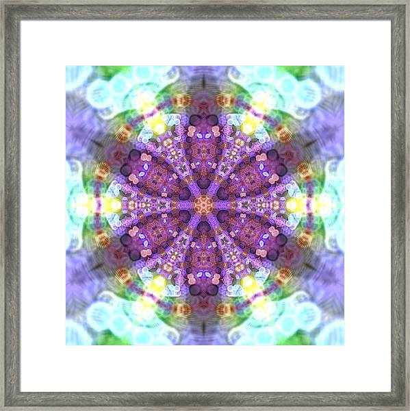 Framed Print featuring the digital art Lightmandala 6 Star 2 by Robert Thalmeier