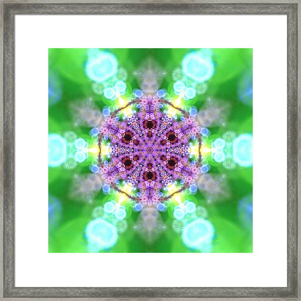 Framed Print featuring the digital art Lightmandala 6 Star 3 by Robert Thalmeier
