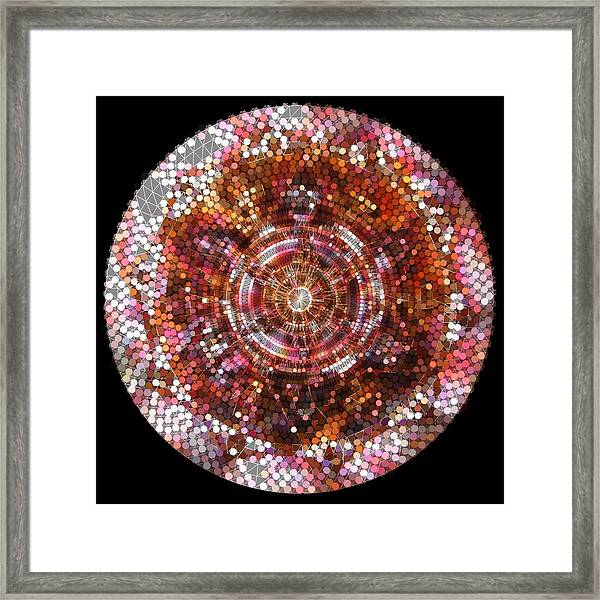 Framed Print featuring the digital art Lightmandala 6 Star Morp 5 by Robert Thalmeier