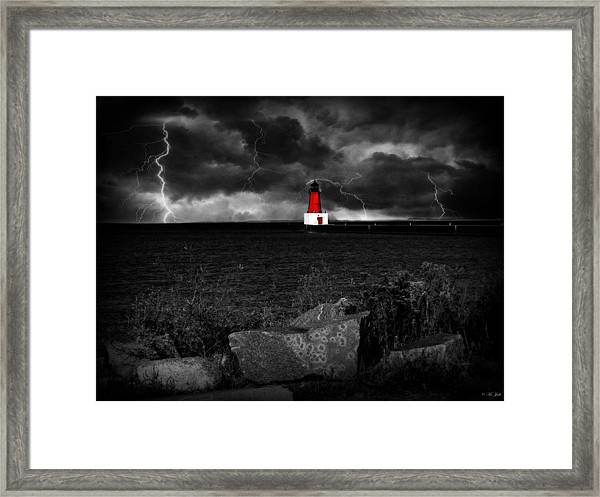 Lightning House Framed Print
