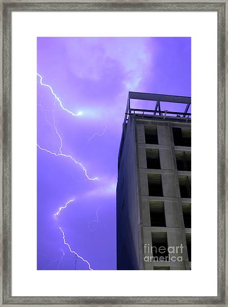 Lightning On Rivadavia 2 Framed Print
