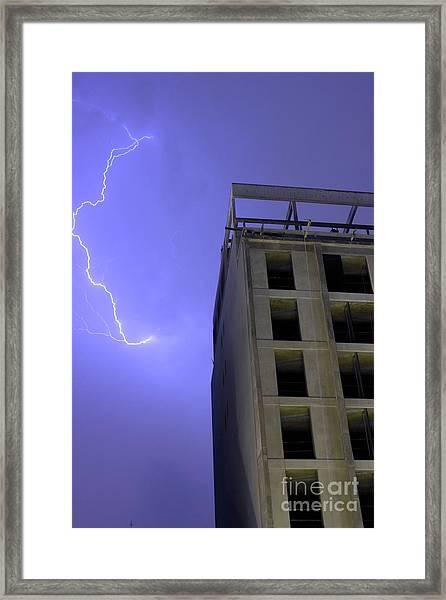 Lightning On Rivadavia Framed Print