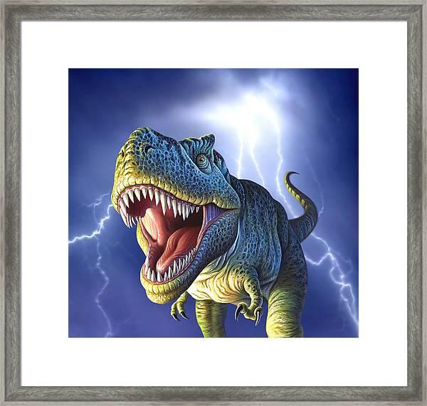 Lightning Rex Framed Print