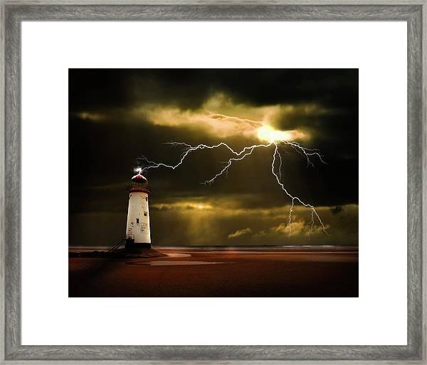 Lightning Storm Framed Print