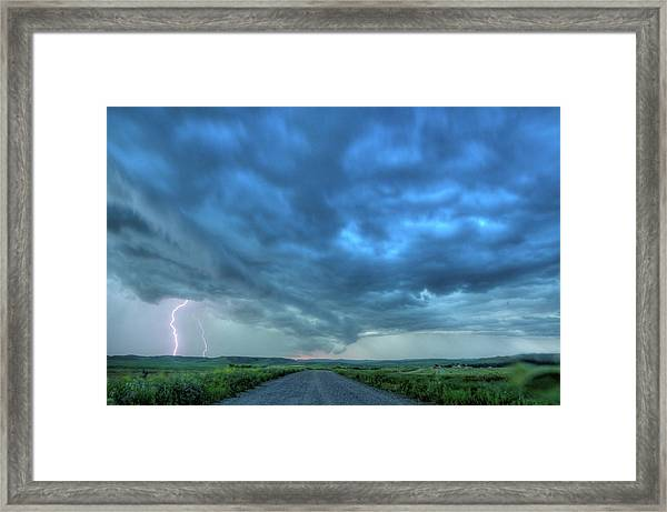 Lightning Strike Framed Print