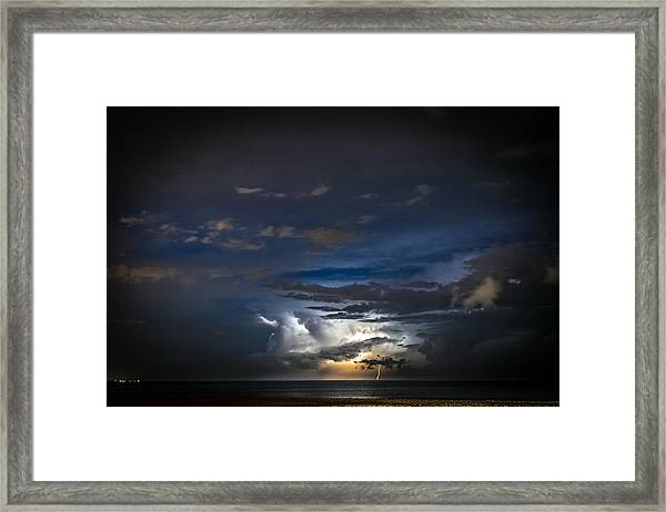 Lightning's Water Dance Framed Print