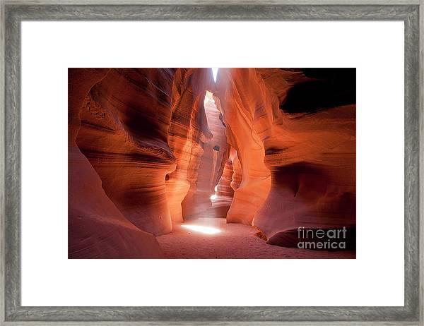 Light's Corridor Framed Print