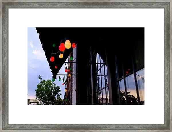 Lights In Corktown In Detroit Michigan Framed Print