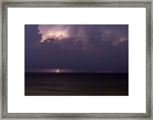 Lights Over The Ocean Framed Print