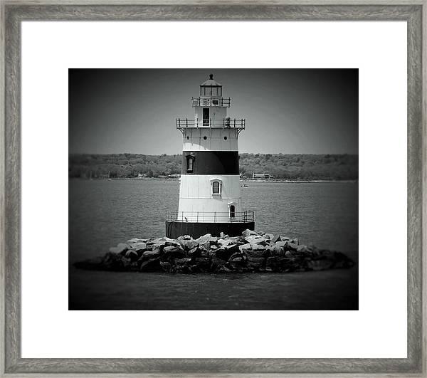 Lights Out-bw Framed Print