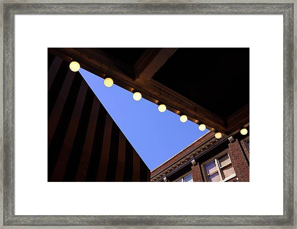 Lights Roofs And Triangles In Frederick Maryland Framed Print