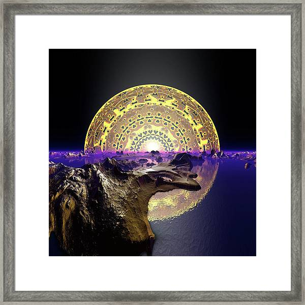 Framed Print featuring the digital art Lightscape 24 by Robert Thalmeier