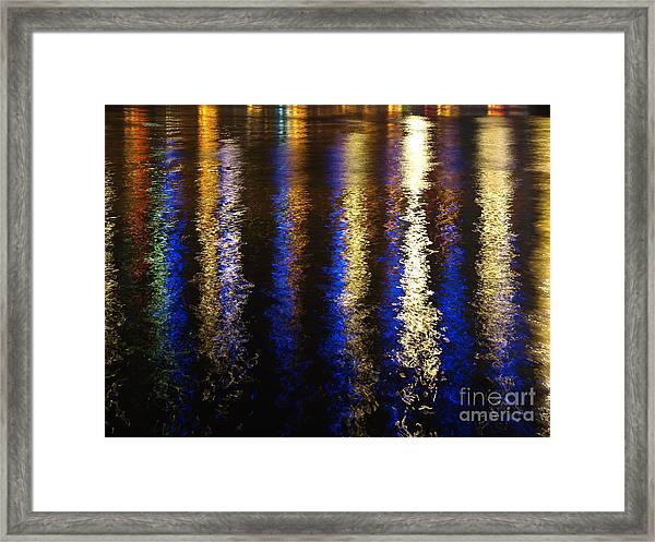 Lightup Pgh Framed Print