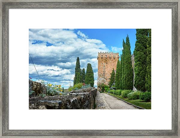 Like A Fortress In The Sky Framed Print
