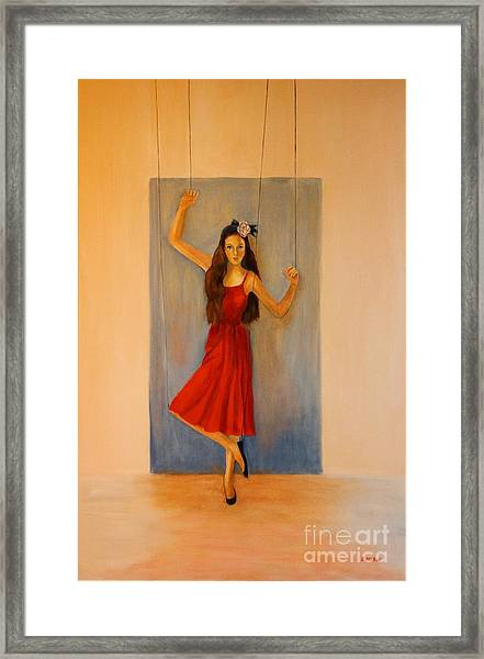 Puppet On A String Framed Print