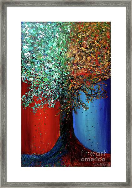 Like The Changes Of The Seasons Framed Print
