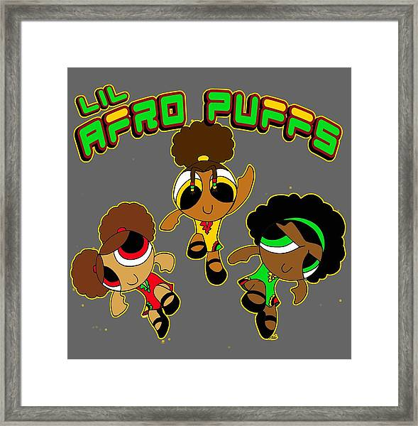 Lil Afro Puffs Framed Print