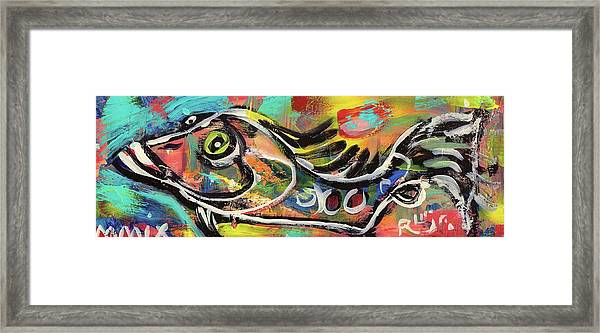 Lil Funky Folk Fish Number Eleven Framed Print