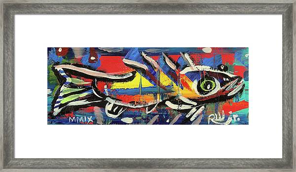 Lil Funky Folk Fish Number Nine Framed Print