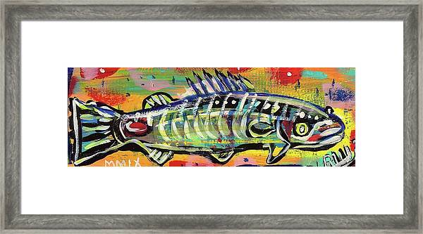 Lil' Funky Folk Fish Number Ten Framed Print