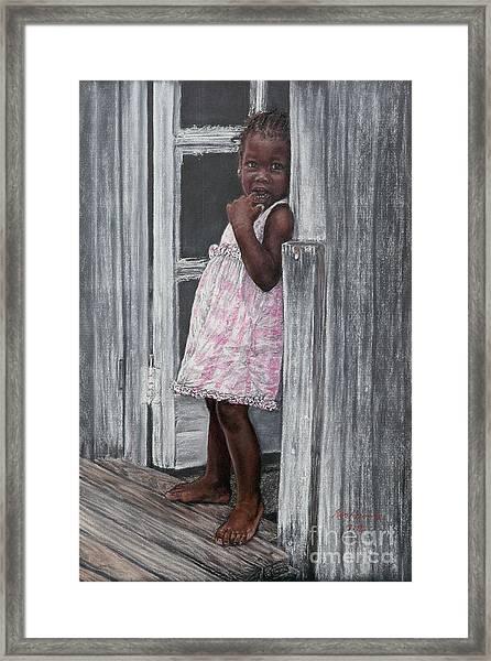 Lil' Girl In Pink Framed Print