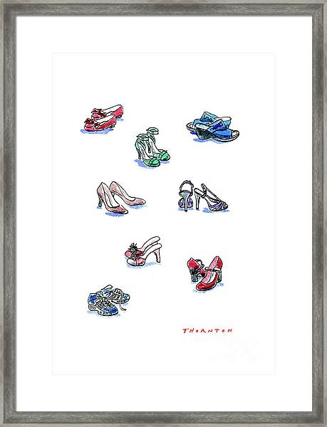 L'il Shoes Framed Print