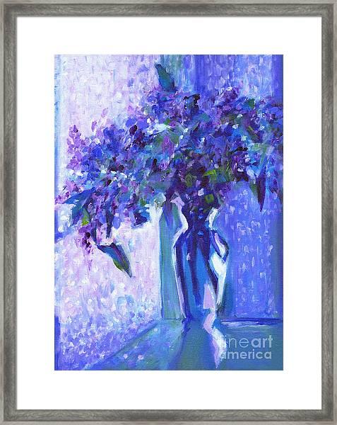 Lilac Rain  Framed Print